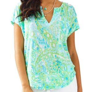 Lilly Pulitzer Any Fins Possible Tshirt Sz Medium